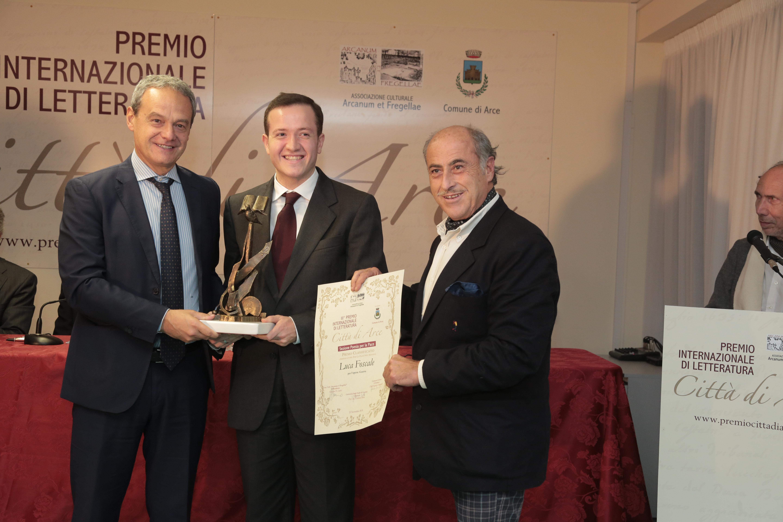 Il premio per la Pace consegnato ad un rappresentante dell'ass. Arcanum et Fregellae per Luca Foscale